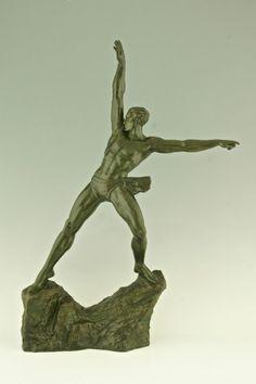 Art Deco sculpture by Pierre Le Faguays Deconamic