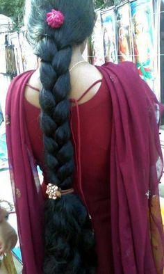 Bilderesultat for long hair braid india Long Silky Hair, Super Long Hair, Indian Long Hair Braid, Braids For Long Hair, Beautiful Braids, Beautiful Long Hair, Gorgeous Hair, Up Hairstyles, Braided Hairstyles