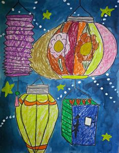 Lantern drawing. This could be a great way to work on shading.