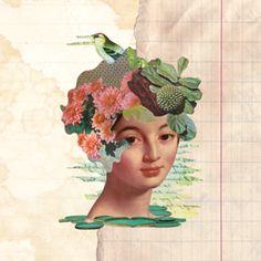 Almofada Lady Portrait do Studio Collagevallente por R$65,00