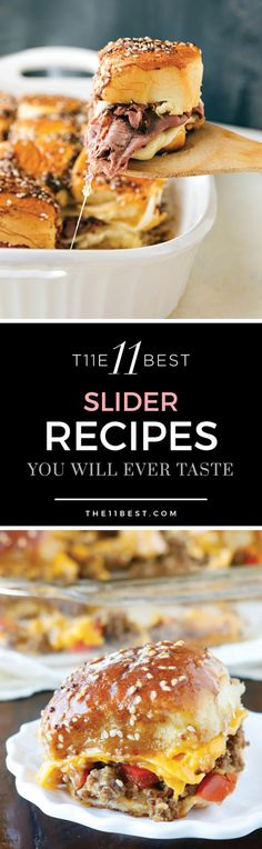 Homemade slider recipes. The BEST slider recipes you will ever eat! Appetizer ideas. Finger food. Party recipes.