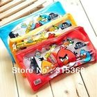 Free Shipping 6in1 Stationery set pencil eraser ruler for kids Cartoon Birds design Stationery bags 15pcs/lot(China (Mainland))