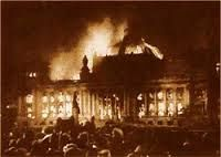 Reichstag = Hitler's false flag. Learn the history that they took out of school and media.