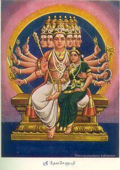 Sri Devisenapathy (Muruga) with Goddess Valli
