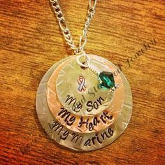 Marine Mom Necklace by RevesChic on Etsy. Might just have to get this <3