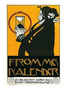 Fromme Calendar Printers  Alphonse Mucha