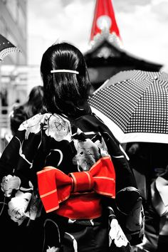 #Yukata 浴衣 | summer kimono | CaptureNX2で部分モノクロ化