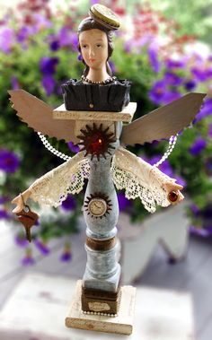 THE ANGEL, Original Art Assemblage from Vintage and Found Objects - pinned by pin4etsy.com