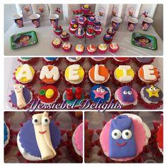 Dora's Cupcakes , Dora la exploradora, Cupcakes, Desserts, Food, Dora The Explorer, Scouts, Tailgate Desserts, Cupcake Cakes, Deserts, Essen