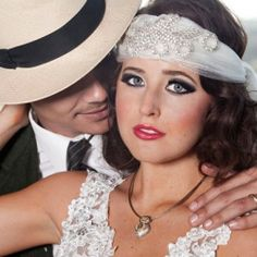 A wedding photo shoot inspired by the Great Gatsby and the roaring 20's, shot at the Del Mar Race Track in San Diego.