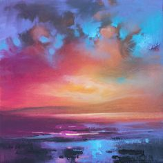 Colorful sunset painting