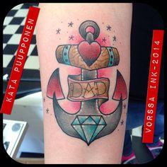 https://www.facebook.com/VorssaInk, http://tattoosbykata.blogspot.fi, #tattoo #tatuointi #katapuupponen #vorssaink #forssa #finland #traditionaltattoo #suomi #oldschool #pinup #anchor
