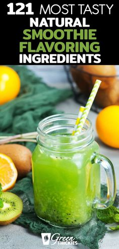 Wow, these smoothie flavorings made my smoothie super tasty. These healthy, natural, gluten free, . Protein Fruit Smoothie, Best Green Smoothie, Green Smoothie Cleanse, Fruit Smoothie Recipes, Good Smoothies, Apple Smoothies, Smoothie Ingredients, Smoothie Diet, Vegan Smoothies