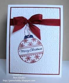 by pamshobby - Cards and Paper Crafts at Splitcoaststampers Cas Christmas Cards, Chrismas Cards, Christmas Paper Crafts, Homemade Christmas Cards, Christmas Gift Tags, Homemade Cards, Holiday Cards, Christmas Greetings, Merry Christmas