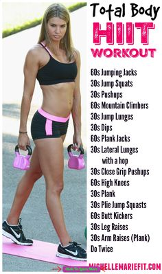 HIIT Workout that can be done at home with no equipment and works the entire body and a lot of core and abs. More workouts and a great diet to follow for weight loss here. #health #fitness #weightloss #healthyrecipes #weightlossrecipes