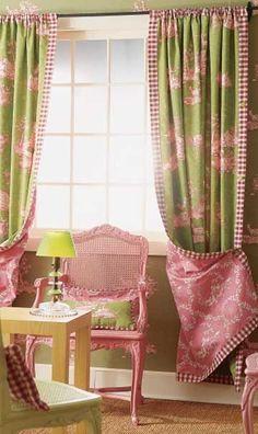 dared combination ~ I kinda like these curtains.....