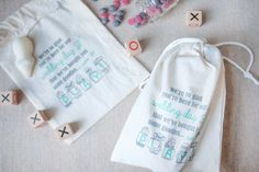 Young guests will feel super special when they receive these fairtrade cotton pouches from Wedding in a Teacup