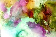Alcohol Ink Art Abstract Art Print Visionary by ThresholdPaperArt