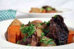 Laughing Man Coffee-Braised Pot Roast - Interesting idea for Pot Roast. Laughing Man Coffee, South African Recipes, Ethnic Recipes, Eat Your Heart Out, Pot Roast, Steak, Veggies, Beef, Cooking