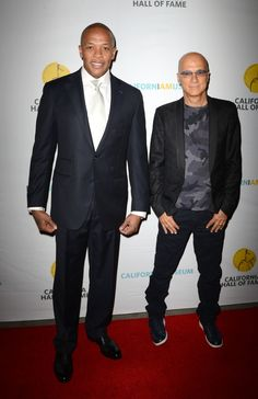 "Dr. Dre and Jimmy Iovine have nothing but ""California Love"" after their induction into the California Hall of Fame on Oct. 1 in Sacramento, Calif"