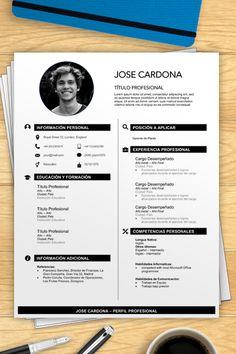 Formato de Hoja de Vida para Llenar   Ejemplos de Hoja de Vida Utiliza este formato de hoja de vida en word para descargar y usar en tu búsqueda de trabajo. Simple Resume Template, Resume Design Template, Resume Templates, Templates Free, Cv Resume Sample, Best Resume Format, It Cv, Cv Tips, Functional Resume