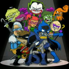 Regular show and batman mashup