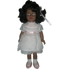 Mattel Black Chatty Cathy Doll Still Talks Wearing Sunday Party Dress from charlottewebcollectibles on Ruby Lane