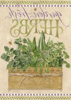 Garden Fresh: Herbs - Home & Garden - Picasa Web Albums Illustrations Vintage, Foto Transfer, Creation Deco, Vintage Labels, Garden Flags, Garden Signs, Botanical Prints, Fresh Herbs, Flower Pots