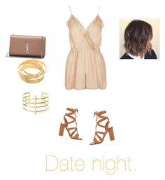 """Date night"" by hazzaisbaeforlifeee ❤ liked on Polyvore featuring Gianvito Rossi, Yves Saint Laurent, BauXo and Topshop"