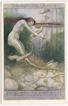 Mermaid Fish Schubert Die Forelle Music