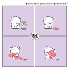 Cute Cartoon Pictures, Cute Love Cartoons, Cute Pictures, Cute Bear Drawings, Cute Cartoon Drawings, Cute Couple Comics, Cute Comics, Chibi Cat, Cute Love Stories