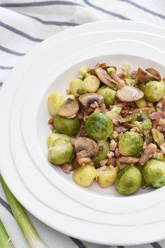 Recept: Spruitjes met spek en aardappeltjes   By Aranka - een lifestyle-, food- en beautyblog met een persoonlijke twist!