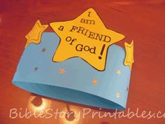 I am a friend of God crown and free printable color page.
