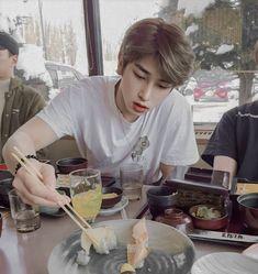 Korean Boy Bands, Olivia Hye, Kpop Boy, Boyfriend Material, Cute Wallpapers, Wattpad, Food, Ideal Type, Rapmon