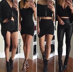Find images and videos about girl, fashion and style on We Heart It - the app to get lost in what you love. Teen Fashion Outfits, Edgy Outfits, Cute Fashion, Dress Outfits, Fall Outfits, Summer Outfits, Badass Outfit, Outfit Goals, Cute Dresses