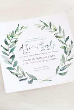 These invitations are almost perfect! Hip Green California Wedding from Laura Nelson - wedding invitation Mod Wedding, Wedding Paper, Wedding Cards, Wedding Day, Sage Wedding, Rustic Wedding, Wedding Venues, Wedding Bride, Olive Branch Wedding