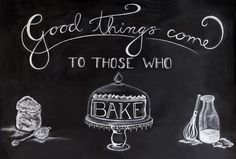 My baking chalkboard for the Yuppiechef Test Kitchen to welcome our free online baking course.  http://www.yuppiechef.com/cooking-school.htm?action=mycourseview&id=588