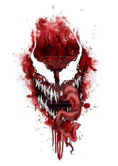 Carnage digital artwork #draw #drawing #digital #art #artist #digitalart #spiderman #marvel #venom #carnage