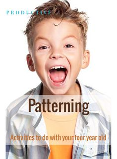 Productive Parenting: Preschool Activities - Patterning - Early Four-Year Old Activities