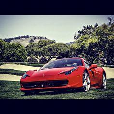 Fatntastic shot of a Ferrari