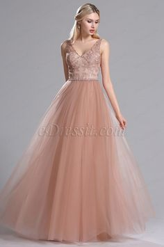 Rosy Brown Beaded Floral Pleated Summer Party Dress (02162946)