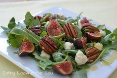 Fig, Arugula, Pecan, Gorgonzola Salad