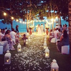 Dusk lit wedding! #Fiji #Fijiwedding