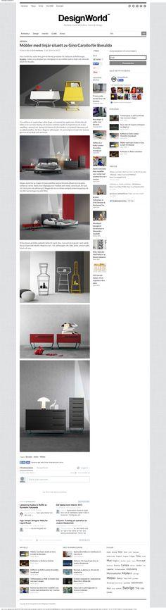 Möbler med linjär siluett av Gino Carollo för Bonaldo #Bonaldo #design #rassegna