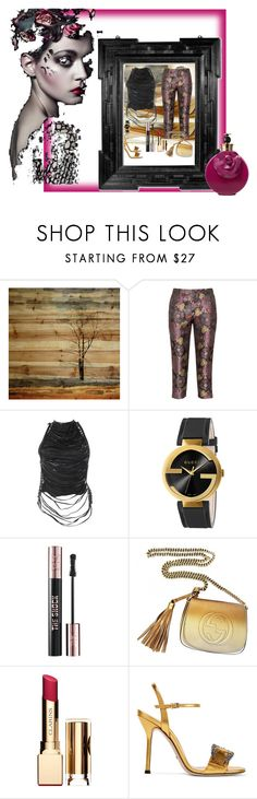 """Mysteries"" by nusongbird on Polyvore featuring Parvez Taj, Manon Baptiste, Jitrois, Gucci, Yves Saint Laurent, Clarins and Valentino"