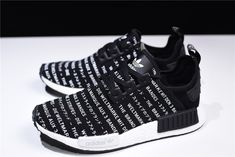 cheap for discount f7b96 429f9 2018 New S76519 adidas NMD R1 Brand With The Three Stripes Core Black FTWR  White
