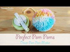 Cute Crafts, Craft Stick Crafts, Fall Crafts, Diy Crafts, Craft Ideas, Fleece Crafts, Crochet Crafts, Clover Pom Pom Maker, Pom Pom Decorations