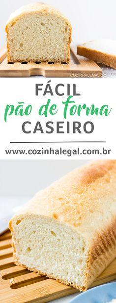 Esta é uma receita clássica de pão de forma, e é tão fácil de fazer! O pão fica incrivelmente alto, macio e fofo ... a receita de pão de forma perfeita! | cozinhalegal.com.br