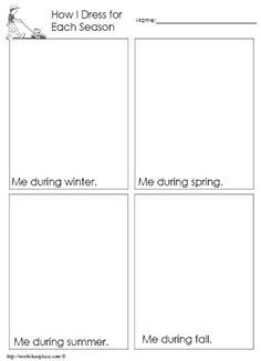 Dress for the Season Worksheet