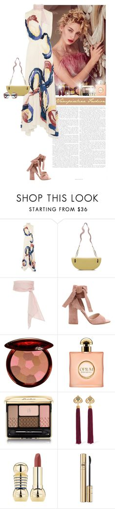 """Simplicity is the keynote of all true elegance ~"" by vampirelina ❤ liked on Polyvore featuring Roksanda, MDS Stripes, Gianvito Rossi, Guerlain, Yves Saint Laurent, Ben-Amun, D&G and LE VIAN"